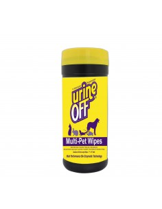 URINE-OFF ¡ADIÓS AL PIS! MULTI-MASCOTA TOALLITAS MANCHAS DE ORINA (MULTI-PET WIPES)