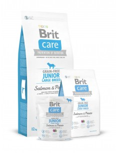 BRIT CARE GRAIN-FREE JUNIOR LARGE BREED SALMON & POTATO - TAMAÑO: 1 KG