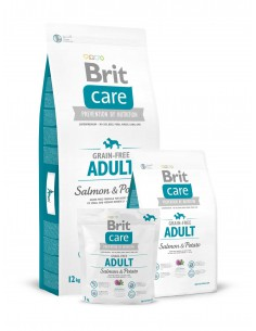 BRIT CARE GRAIN-FREE ADULT SALMON & POTATO - TAMAÑO: 1 KG
