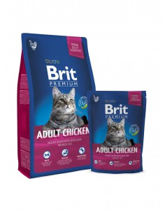 BRIT PREMIUM CAT ADULT CHICKEN - TAMAÑO: 1,5 KG
