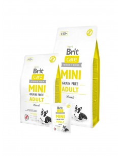 BRIT CARE MINI GRAIN FREE ADULT LAMB - TAMAÑO: 400 GR