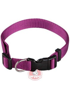 COLLAR REGULABLE NYLON BASIC - COLOR: MORADO - TAMAÑO: 1 X 15-25 CM