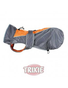 IMPERMEABLE SOLID - TALLA: XS (25 CM) - COLOR: GRIS / NARANJA