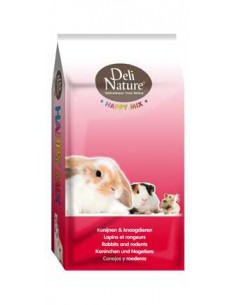 DELI NATURE HAPPY MIX PARA CONEJOS - TAMAÑO: 3 KG