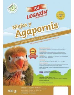 LEGAZÍN PROFESSIONAL PAPILLA NINFAS Y AGAPORNIS - TAMAÑO: 700 GR