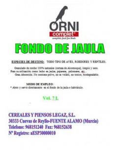 ORNI COMPLET FONDO DE JAULA - TAMAÑO: 7 LITROS