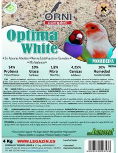 ORNI COMPLET ÓPTIMA WHITE MÓRBIDA - TAMAÑO: 4 KG