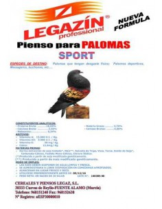 PIENSO LEGAZÍN PALOMAS SPORT - TAMAÑO: 20 KG