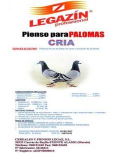 PIENSO LEGAZÍN PALOMAS CRÍA - TAMAÑO: 20 KG