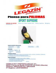 PIENSO LEGAZÍN PALOMAS SPORT SUPREME - 20 KG