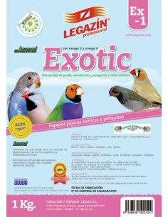 PIENSO LEGAZÍN EX1 EXOTIC - TAMAÑO: 1 KG