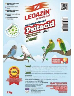 PIENSO LEGAZÍN PSITACID AG1 - TAMAÑO: 1 KG