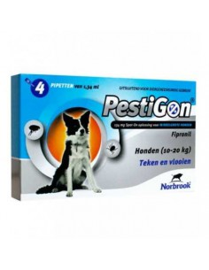 PIPETA ANTIPARASITARIA PESTIGON PERROS MEDIANOS - TAMAÑO: 134 ML