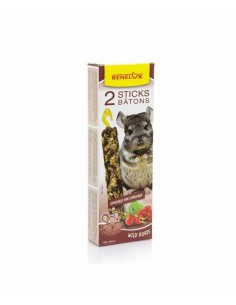 STICKS BENELUX CHINCHILLA FRUTOS ROJOS – 2 UNIDADES