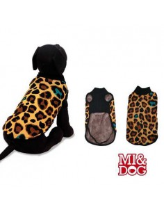 ABRIGO CAPA FELPADO ANIMAL PRINT MI&DOG - TALLA: 20 CM