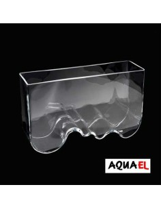 PECERA AQUA DECORIS WAVE GRANDE AQUAEL - TAMAÑO: 40 X 12 X 24 CM (8 LITROS)