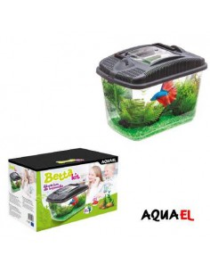 ACUARIO BETTA KIT AQUAEL - TAMAÑO: 23,7 X 15,4 X 17,3 CM