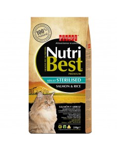 PICART NUTRIBEST CAT ADULT STERILISED SALMÓN Y ARROZ - TAMAÑO: 1,5 KG (+500 GR)
