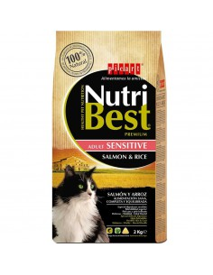 PICART NUTRIBEST CAT ADULT SENSITIVE SALMÓN Y ARROZ - TAMAÑO: 1,5 KG (+500 GR)