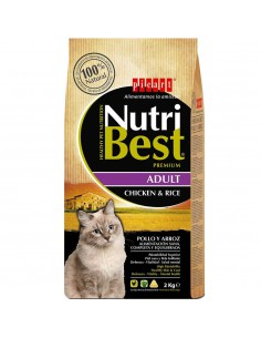 PICART NUTRIBEST CAT ADULT POLLO Y ARROZ - TAMAÑO: 1,5 KG (+500 GR)