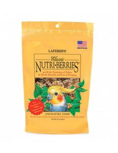 NUTRI-BERRIES CLÁSICOS PARA NINFAS Y AVES MEDIANAS - TAMAÑO: 284 GR