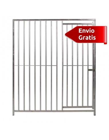 FRENTE DE BOXES PARA PERROS BARRAS COPELE - FRENTE: 150 CM - TIPO: BARRAS 8 CM - MODELO: SIN COMEDEROS