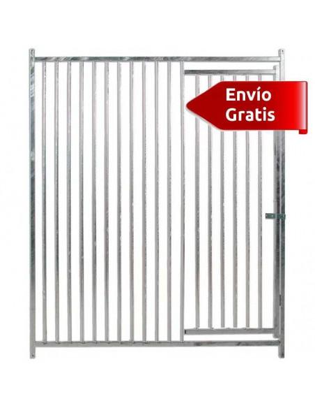 FRENTE DE BOXES PARA PERROS BARRAS COPELE - FRENTE: 150 CM - TIPO: BARRAS 5 CM - MODELO: SIN COMEDEROS