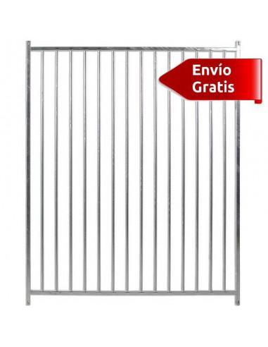 LATERAL DE BOXES PARA PERROS BARRAS COPELE - FRENTE: 150 CM - TIPO: BARRAS 8 CM