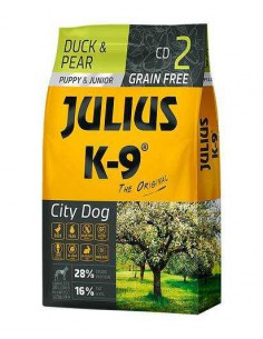 JULIUS K-9 CITY DOG PUPPY AND JUNIOR PATO Y PERA - TAMAÑO: 340 GR