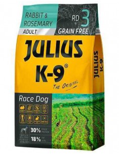 JULIUS K-9 RACE DOG ADULTO CONEJO Y ROMERO - TAMAÑO: 340 GR