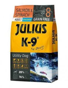 JULIUS K-9 UTILITY DOG ADULTO SALMON Y ESPINACAS - TAMAÑO: 340 GR