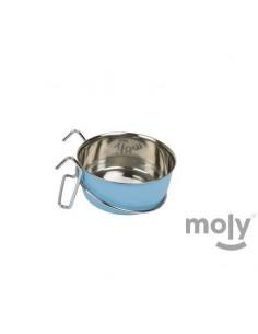 COMEDERO MULTIUSOS CAKE GANCHOS MOLY - TAMAÑO: Ø7,5 CM (200 ML) - COLOR: AZUL CLARO