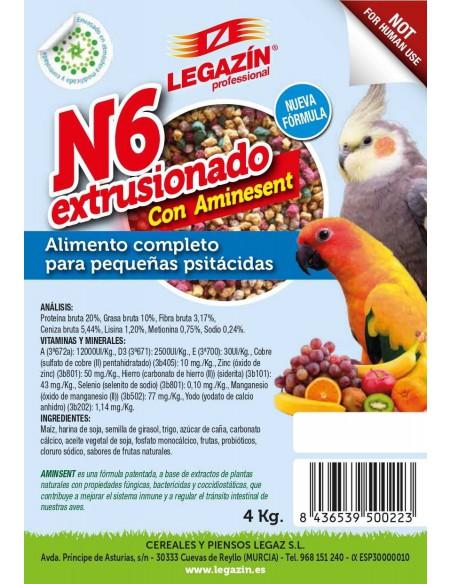 PIENSO LEGAZÍN N6 EXTRUSIONADO - TAMAÑO: 800 GR