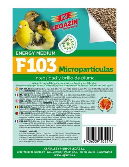 PIENSO LEGAZÍN F103 MICROPARTÍCULAS