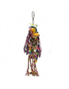 JUGUETE CUERDA LOVEBIRDS AGAPORNIS BEEZTEES - 31 X 8 CM - TAMAÑO: 31 X 8 CM