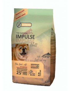 THE NATURAL IMPULSE DOG SALMON - TAMAÑO: 3 KG