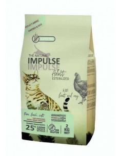THE NATURAL IMPULSE CAT STERILIZED - TAMAÑO: 2 KG