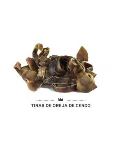 TIRAS DE OREJA DE CERDO MEDITERRANEAN NATURAL - Tamaño: 150 gr