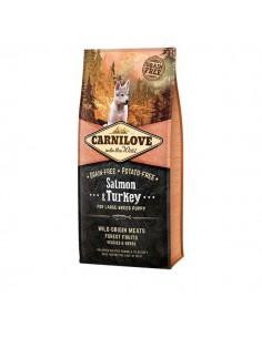 CARNILOVE CANINE PUPPY LARGE SALMON PAVO - Tamaño: 1,5 Kg