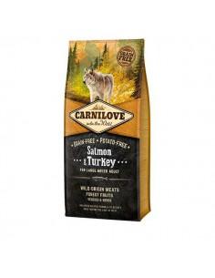 CARNILOVE CANINE ADULT LARGE SALMON PAVO - Tamaño: 1,5 Kg