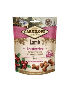 CARNILOVE CANINE CRUNCHY SNACK CORDERO ARANDANOS - 200 GR - Pack: 1 x 200 gr