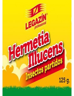 LEGAZIN HERMETIA ILLUCENS INSECTOS PARTIDOS - 125 GR