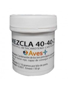 MEZCLA 40-40-20 AVES+ - Tamaño: 50 gr