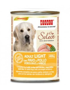 PICART SELECT DOG ADULT LIGHT, VERDURAS Y ARROZ - TAMAÑO: 400 GR
