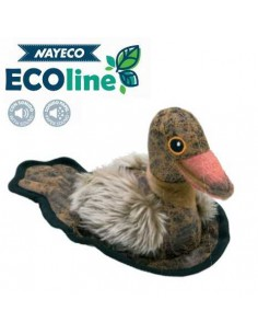 PELUCHE SCOTT DUCK RECICLADO NAYECO - 20 CM - Color: Marrón
