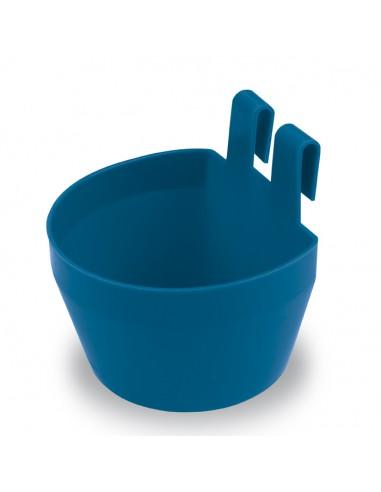 8435039013967 COMEDERO DE PLÁSTICO CON GANCHOS PARA AVES - Color: Azul