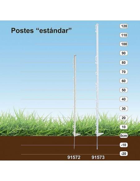POSTE PLÁSTICO ESTÁNDAR COPELE (10 UNIDADES) - LARGO: 104 CM